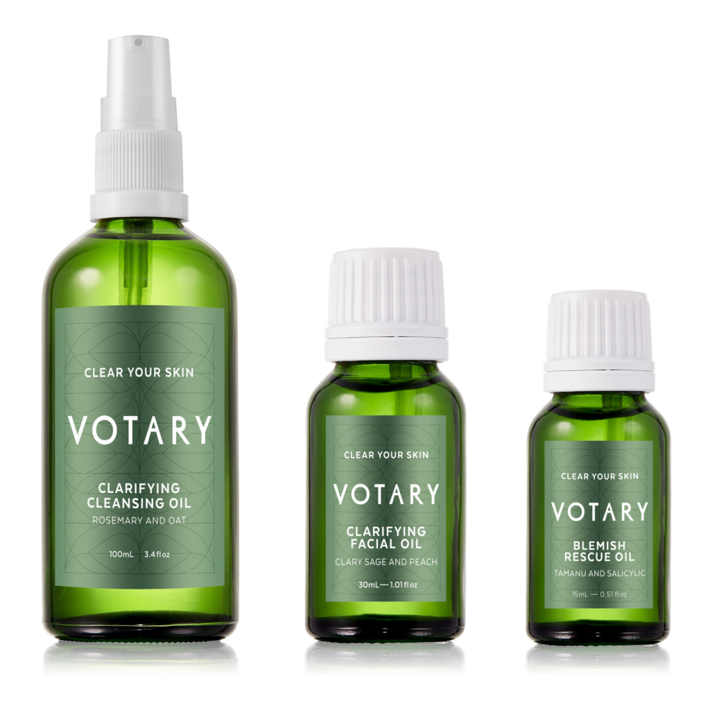 Votary Clarifying Set with FREE Blemish Rescue Oil