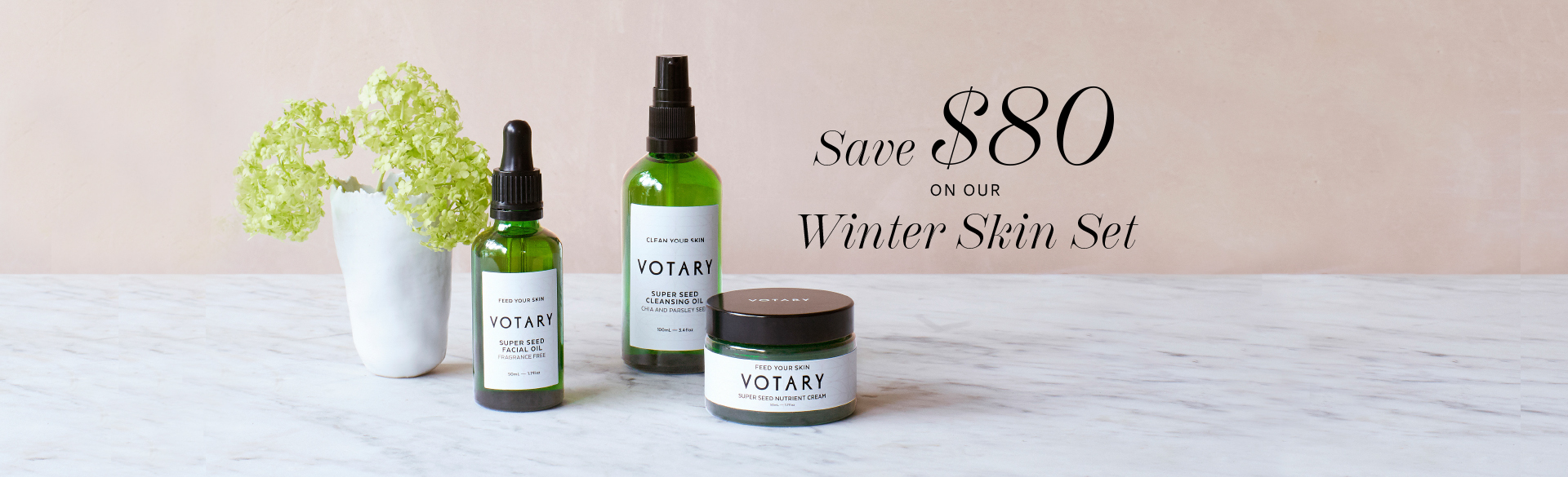 Save $80 on our Winter Skin Set