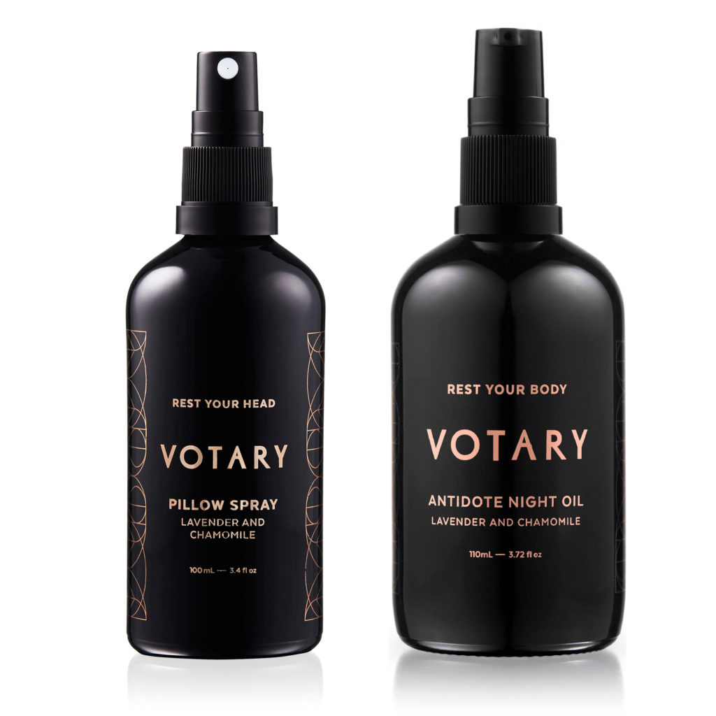Votary Sleep Set - Antidote Bath and Body Oil & Lavender And Chamomile Pillow Spray