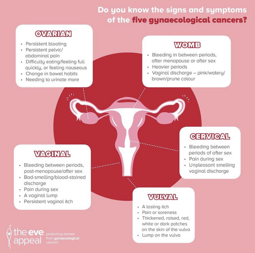 What are gynaecological cancers? Here is the Eve Appeal's useful infographic.