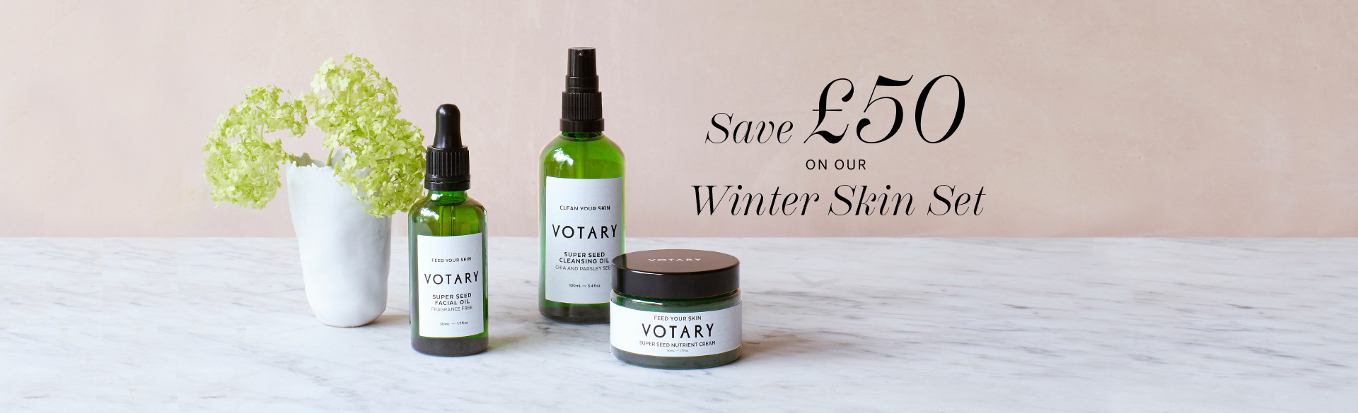 Save £50 on our Winter Skin Set