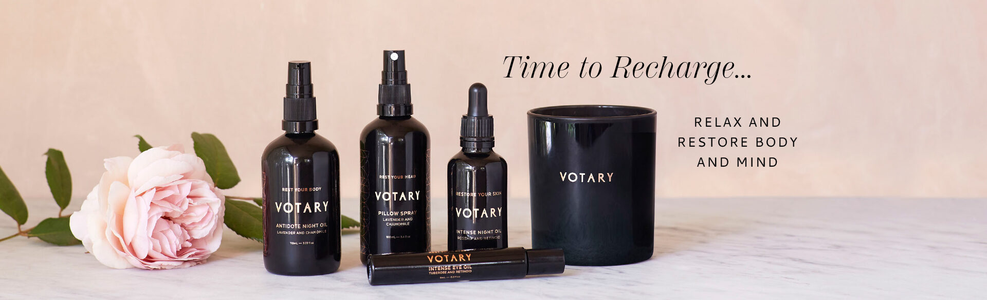 Time to Recharge with VOTARY aromatherapy oils