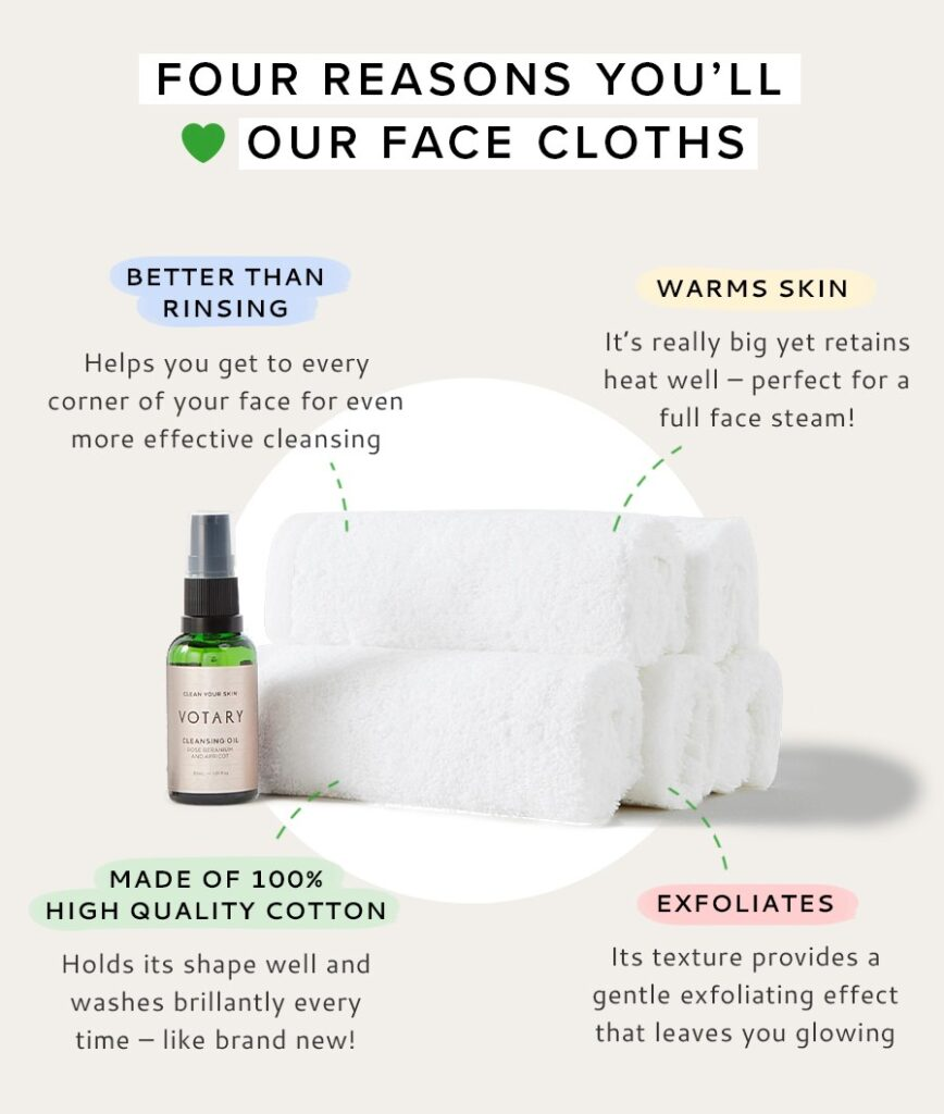 Four reasons you'll love Votary Face Cloths